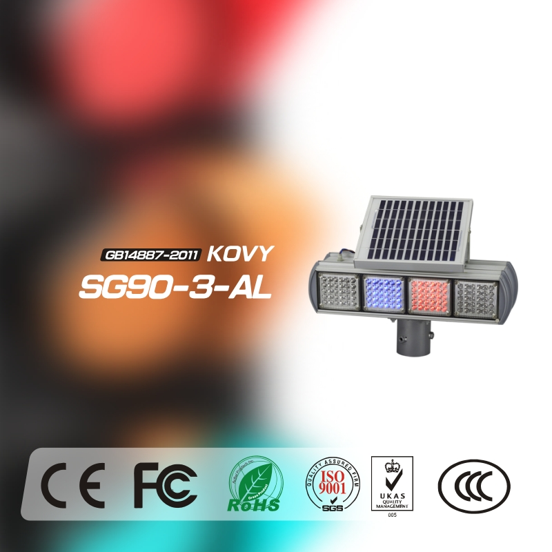 China Manufacturer For Red/Blue Square Solar Traffic Signal System