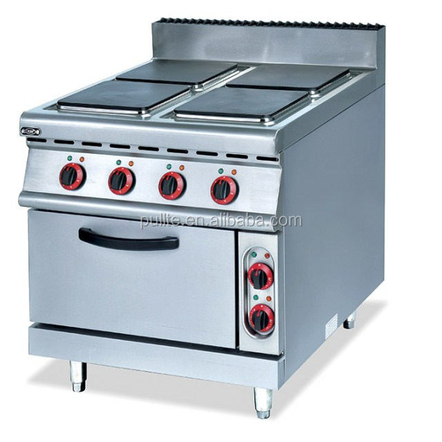 Commercial electric range with 4-hot plate& electric oven OT-893