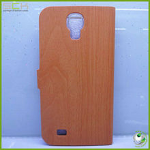 wood feeling flip cover for samsung galaxy s4 phone case