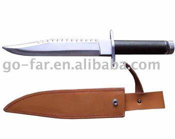 14'' M9 knife with leather sheath