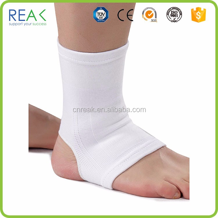 Breathable elastic fashionable custom black nylon.polyamide ankle support stocking