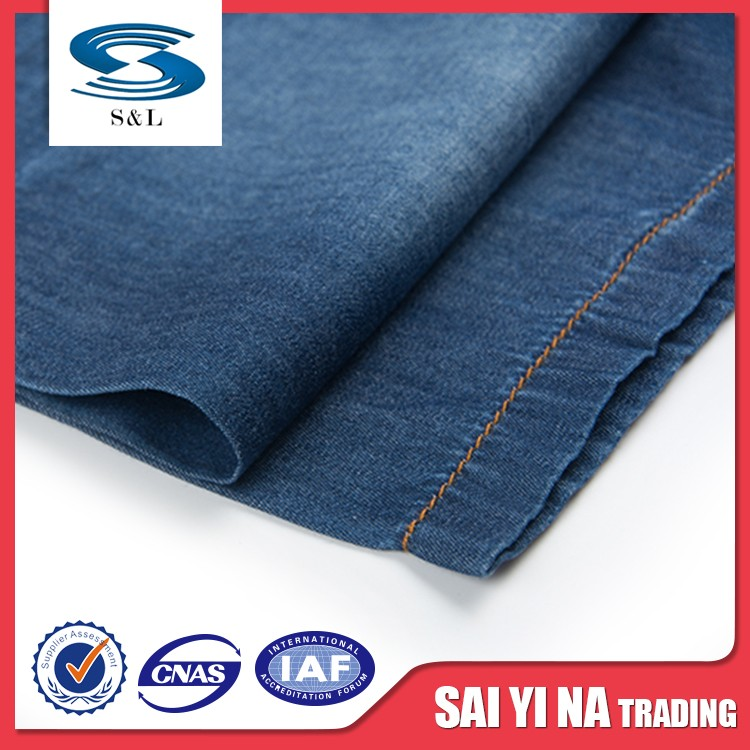 Excellent quality bottom price printed thin and light denim fabric in many style