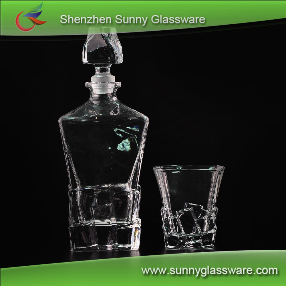 High quality whisky glass cup and bottle sets