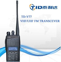Handheld vhf uhf high quality 5W best price TD-V77 portable bfdx two way radio