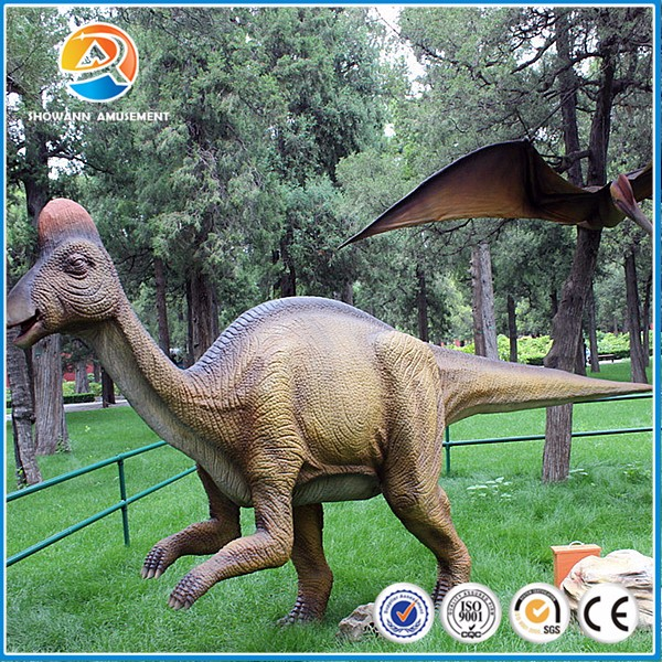 Realistic jurassic park life size animatronic dinosaur for sale