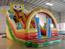 China cheap jumpo inflatable spongebob water slide on sale