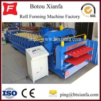 Glazed Tile And Wave Double Galvanized Roof Shingles Roll Forming Machine