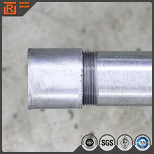 "1 1/2"" schedule 40 hot-dipped galvanized steel pipe, 40NB welded round steel tube with coupling"