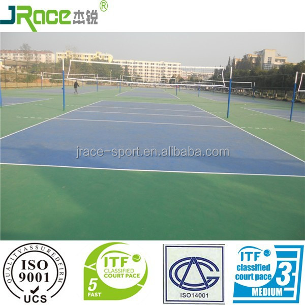 Guangdong manufacturer sport court flooring plastic floor covering volleyball flooring