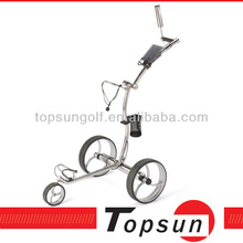 NEW STYLE Stainless steel electric golf pushcart muscle golf trolley quite tubular motors
