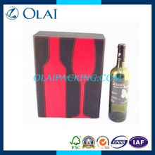 hot-style fancy 2 bottle gift boxes for wine with free-color