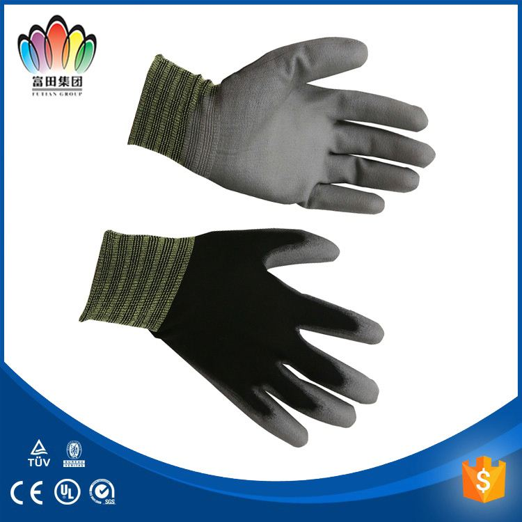 Esd Finger Fit Gloves Finger Fit Esd Gloves ESD PU Top Fit Glove