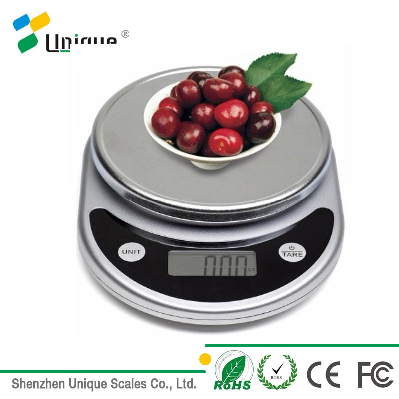 Health Cheap Round 11 lbs Small Kitchen Plastic Electric Digital Weight Food Scale in Grams