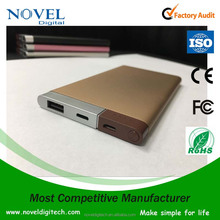 Aluminum power bank5000, portable mobile power bank 5000mah, 2017 newest design