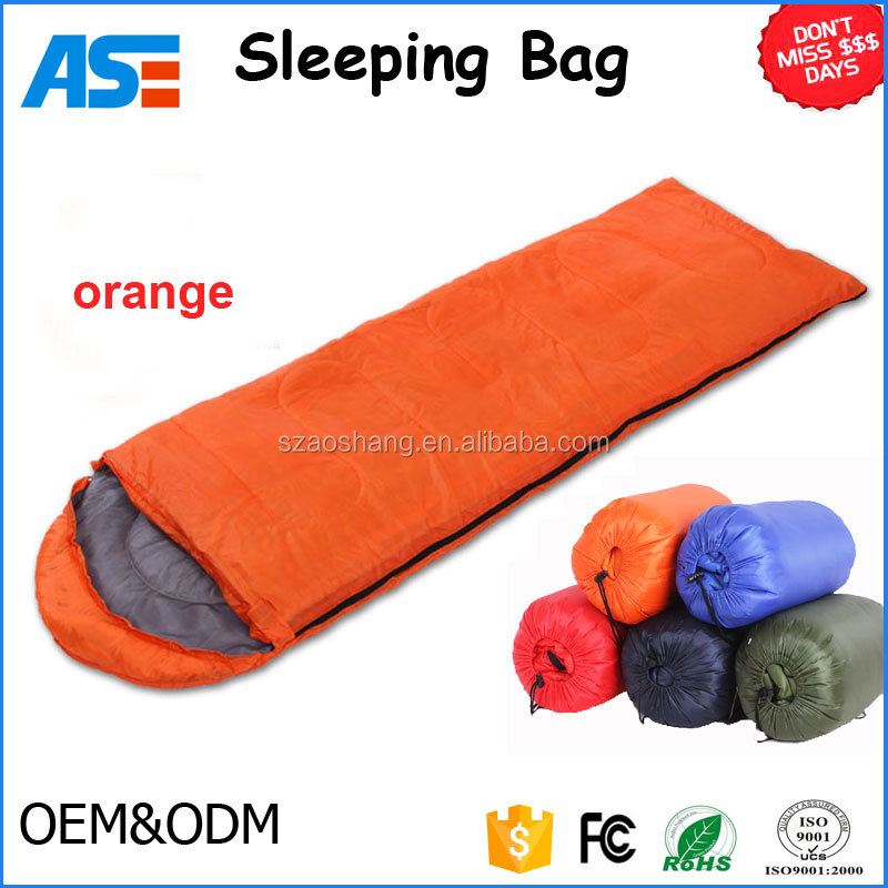 Portable envelope sleeping bag Custom Outdoor Hiking Camping lightweight sleeping bag