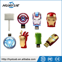 2015 / 2016 hot sale cartoon character the marvels usb 2.0 flash drive 64gb / avengers usb / iron man 256gb usb pendrive