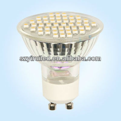 High shock LED Spotlight SMD3528-60pcs GU10