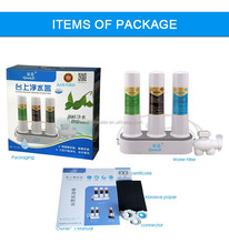 non electric counter top water filter three stage water purifier countertop for home use