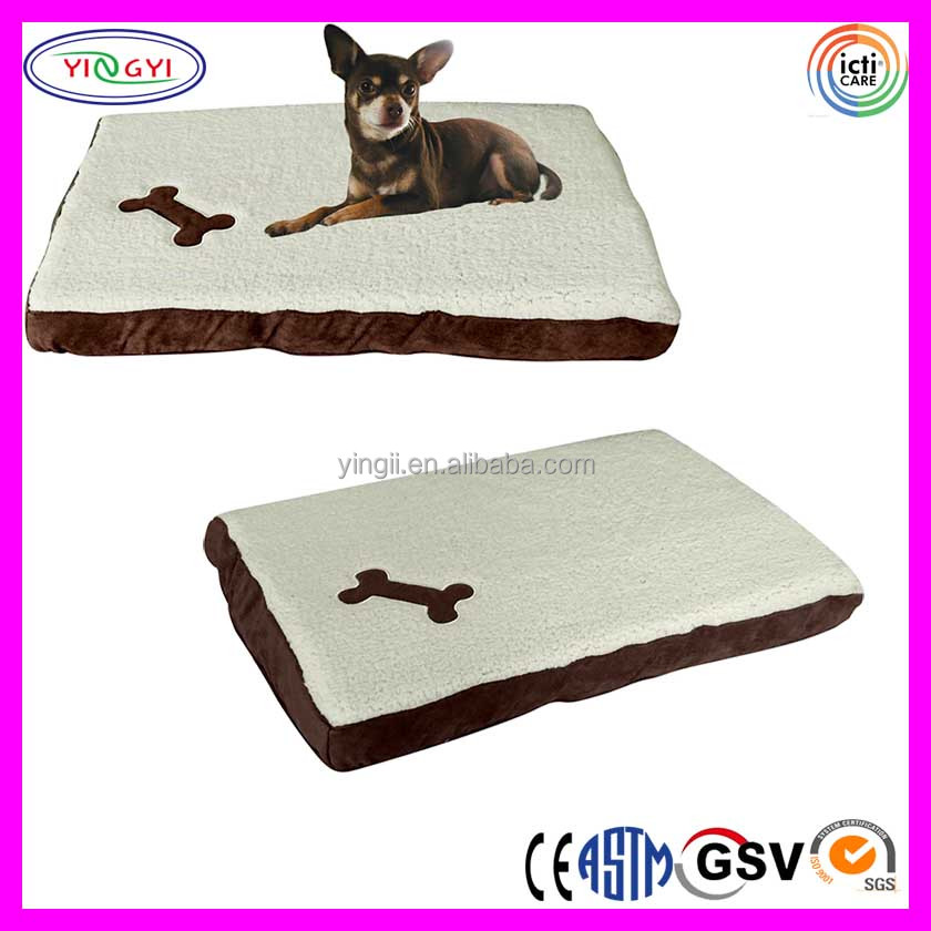 C416 Cushion Pet Bed With Washable Fleece Cover Foam Filling Brown Fleece Dog Bed