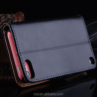 Top Genuine Leather Cover For iPod Touch 5 Stand Design For Apple Touch 5 Case Flip Walle Case For iPod Touch 5 RCD02390