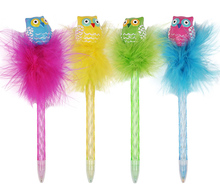INTERWELL BP4085 Cute Pens, Children Promotional Items Owl Pen Plume