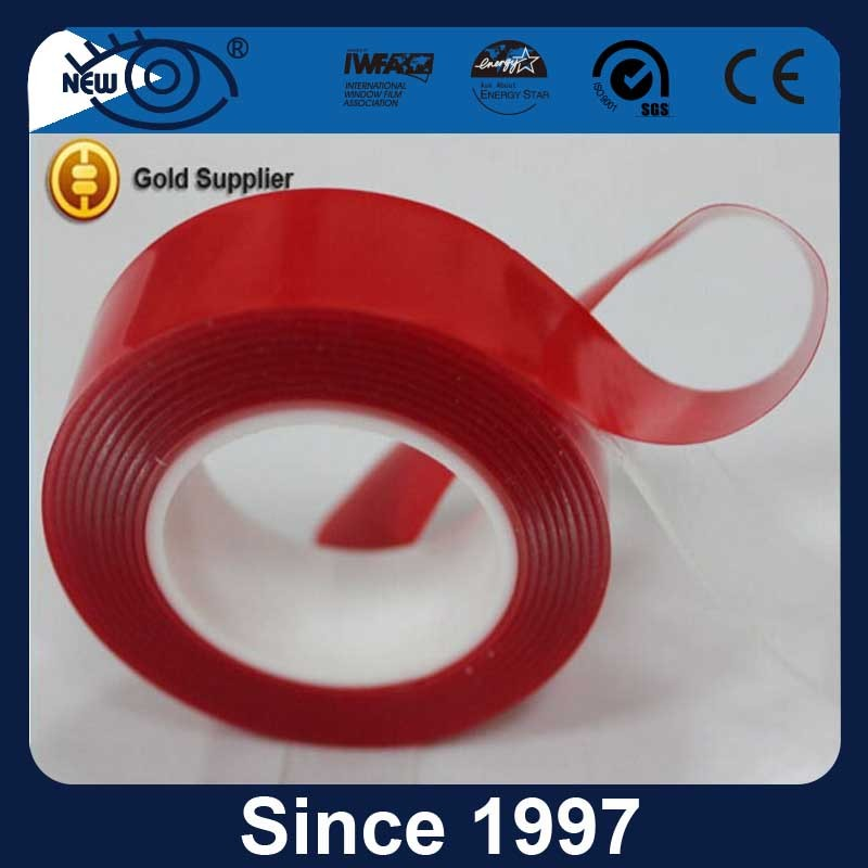 Factory supply red release liner transparent strong adhesive acrylic 3M quality double sided tape