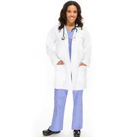 Lab coat uniform type 65 Polyester / 35 Cotton pure cotton white unisex lab coats