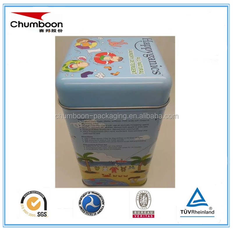 92*92*172mm square washing powder tin box