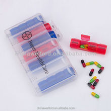 Promotional 28days Clear Plastic Pill Box Customized logo pill case / medicine box / pill box