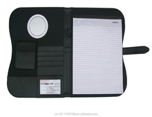 Unique Design cheap price a4 leather portfolio with calculator&memo pad