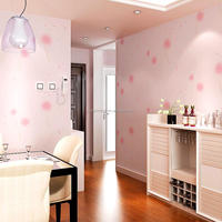 Beautiful designed purple/pink color wallpaper home decoration from China supplier