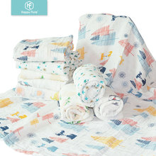 Factory wholesale Plain solid print cotton or bamboo baby muslin swaddle blanket