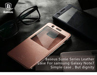 Case For Samsung Galaxy Note 7,Original Baseus Sunie Series PU+PC Leather Terse Case Cover For Samsung Galaxy Note 7 PB-118