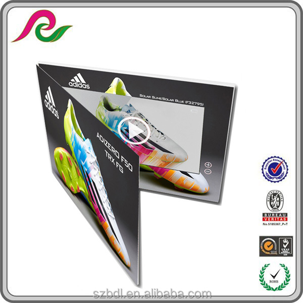 customized LCD/LCD screen brochure video, holiday video mailer gift