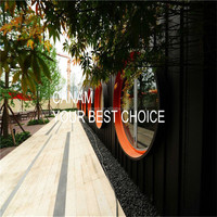 New 2016 Prefabricated glass house container living capsule hotel design