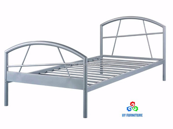 Single metal bed frames steel beds wholesale