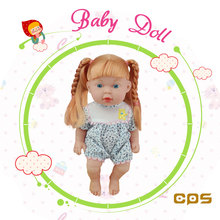 Lovable baby vinyl doll toy with IC for kids