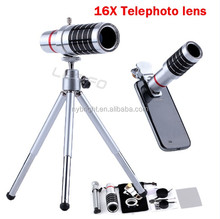 16x Metal telephoto lens for mobile phone,mobile zoom telephoto lens for Samsung galaxy S3,telphoto lens14x for Ipad Mini/Mobile