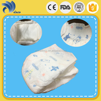 Wholesale high quality comfort organic cotton colored disposable baby diapers
