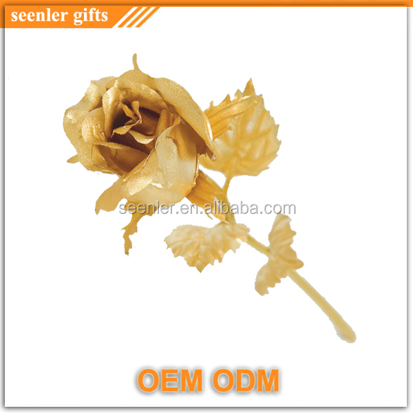 factory cheap price gold plated budding rose half open rose
