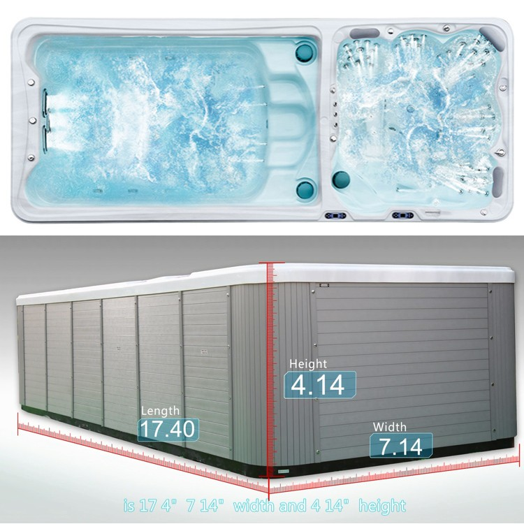 2017 swimming European style acrylic tub luxury massage portable massage pool hot tub combo outdoor swimming pool equipment