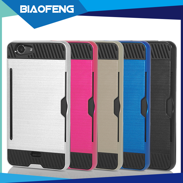 Amazon Hotselling Accesorios Para Celulares Mobile Phone Armor Case With Card Slots For BLU Life XL Handphone Casing