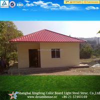 galvanized frame prefab house/cheap prefab kit homes in china