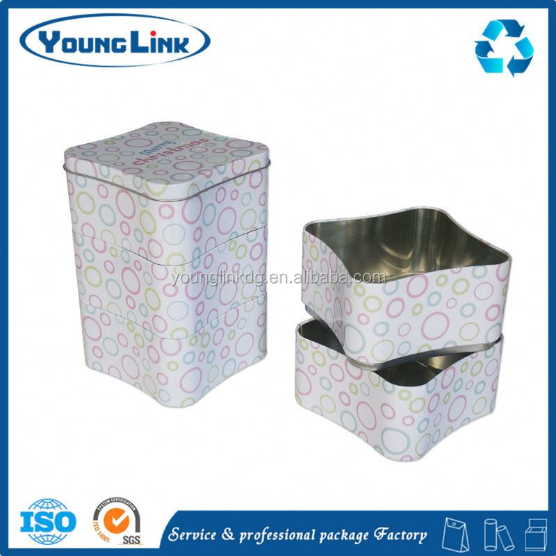 metal dog food tin box