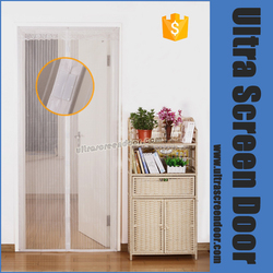 Magnetic Magic Button Accordion Mesh Screen Door Window Curtains