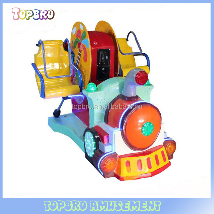 child ride on electric train swing machine