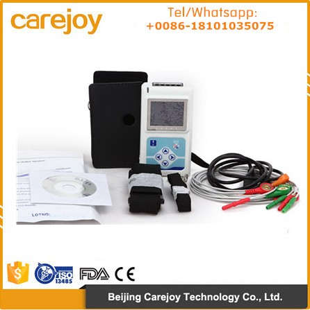 CE approved 12 lead 3 Channel ECG Holter Monitor recorder with free PC analysis software