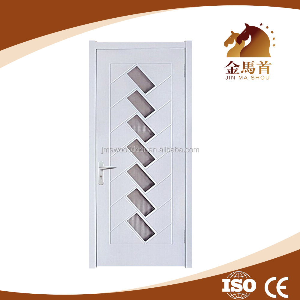 Cheap price and hot sale JMS India MDF PVC interior kitchen wood doors