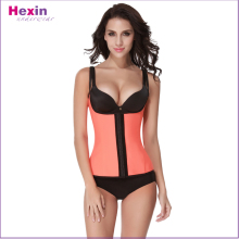 Hot Women Bright Orange Corset With Shoulder Girdle