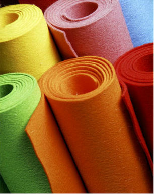 customized colorful polyester needle punched nonwoven felt fabric